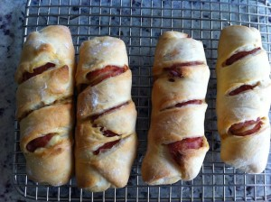 Image of Chorizo Bread rolls on wire rack
